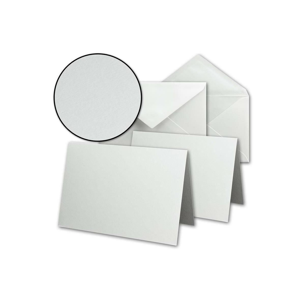 50 Doppelkarten DIN Lang reinweiß 250 g//m²  Klappkarten Faltkarten